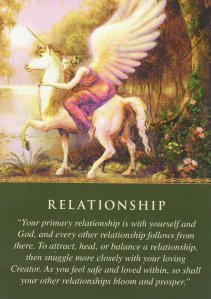 Relationship, from the Daily Guidance from Your Angels Oracle Cards.