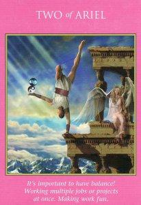2 of Ariel, from the Archangel Power Tarot Cards. Artwork is by Jeff Bedrick.
