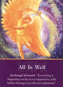 All is Well, from the Archangel Oracle Cards. Artwork is by Marius Michael-George.