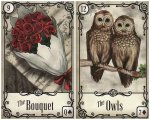 bouquet owls-under the roses