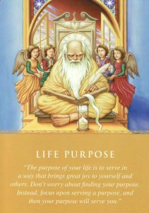 Life Purpose, from the Daily Guidance from Your Angels Oracle Cards. Artwork for this card is by John Phillip Wagner.