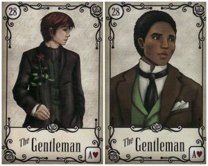 The Gentlemen cards in the Under the Roses Lenormand.