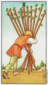 10 of wands-universal waite