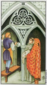 3 of pentacles-universal waite