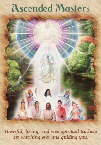 Ascended Masters, from the Angel Therapy Oracle Cards. Art by Paul Heussenstamm.