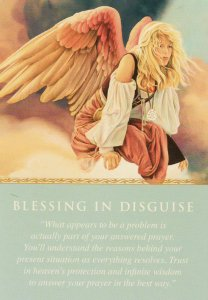 Blessing in Disguise, from the Daily Guidance from Your Angels Oracle Cards. Artwork by Kevin Roeckl.