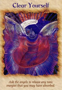 Clear Yourself, from the Angel Therapy Oracle Cards. Art by Ragen Mendenhall.