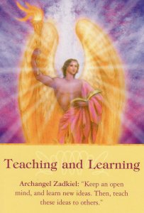 Teaching and Learning, from the Archangel Oracle Cards. Artwork by Marius Michael-George.