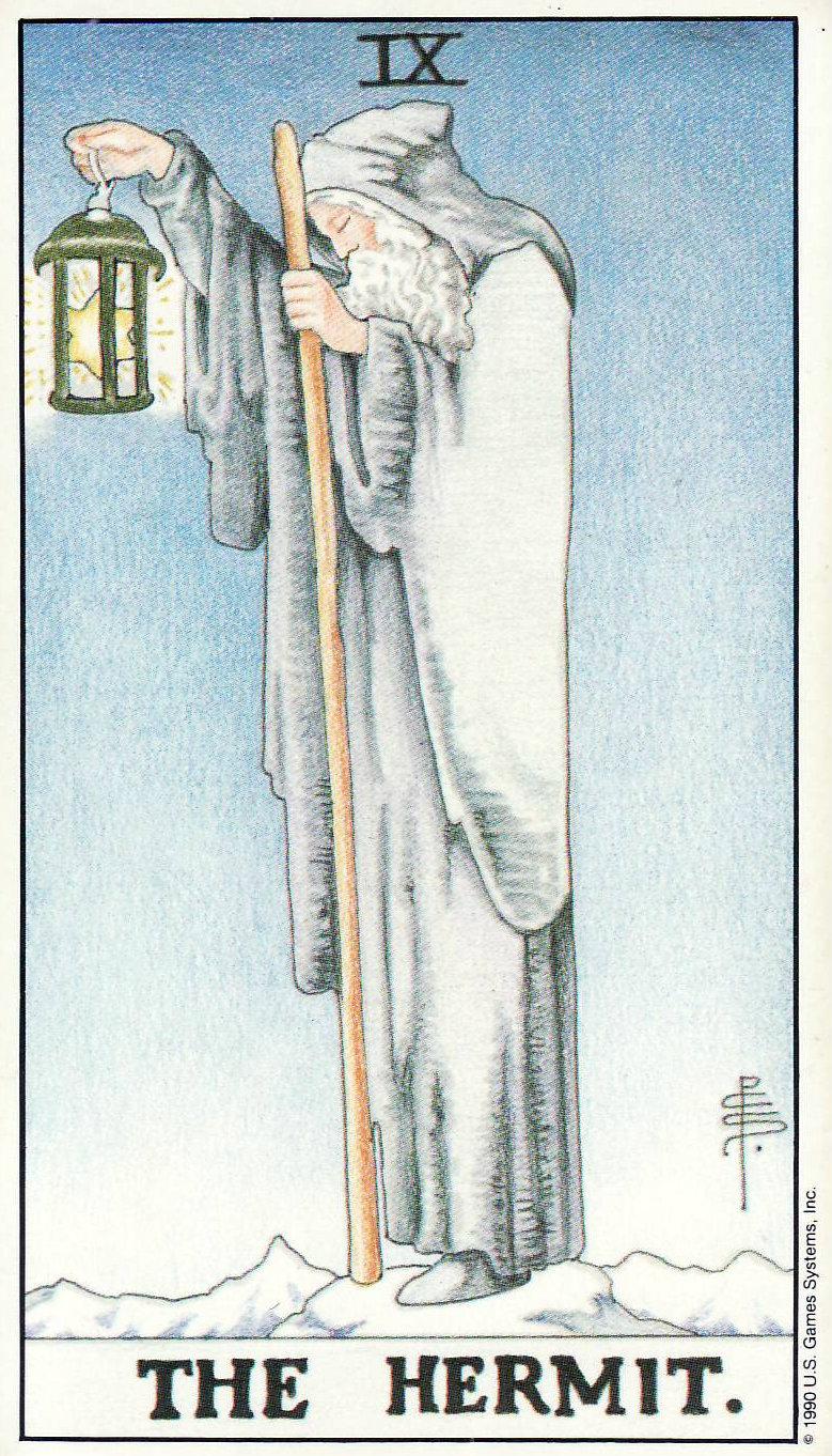 Universal Waite Tarot Deck By Mary Hanson Roberts Arthur: The Hermit-Universal Waite Tarot