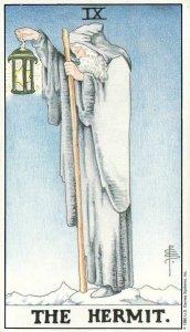 The Hermit-Universal Waite Tarot