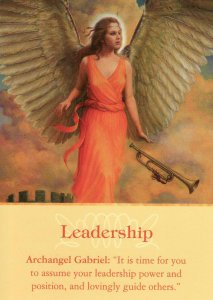 Leadership, from the Archangel Oracle Cards. Artwork is by James Yale.