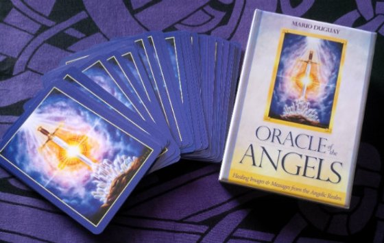 New deck love: Oracle of the Angels by Mario Duguay, published by Blue Angel Publishing.
