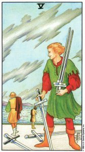 5 of swords-universal waite