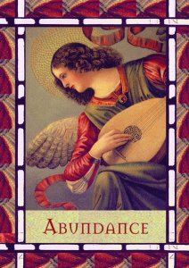 Abundance, from the Healing with the Angels Oracle Cards.
