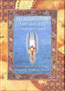 Healing with the Angels Oracle Cards, by Doreen Virtue and published by Hay House.