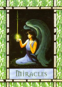Miracles, from the Healing with the Angels Oracle Cards. Artwork by Corey Wolfe.