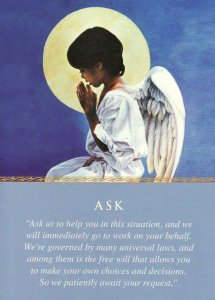 Ask, from the Daily Guidance from Your Angels Oracle Cards. Artwork by Kevin Roeckl.