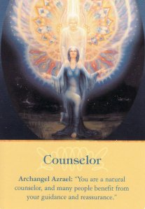 Counselor, from the Archangel Oracle Cards. Art by Catherine Andrews.