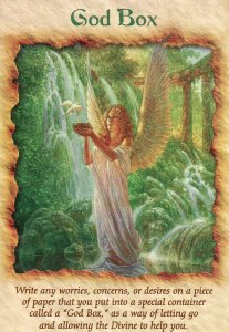 God Box, from the Angel Therapy Oracle Cards. Artwork by Christopher Vacher.