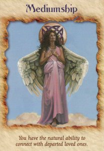 Mediumship, from the Angel Therapy Oracle Cards. Artwork by Carol Heyer.