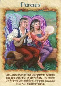 Parents, from the Angel Therapy Oracle Cards. Artwork by Audrey Rawlings Arena.