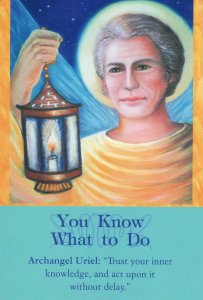 You Know What to Do, from the Archangel Oracle Cards. Art by Eileen Poldersman.